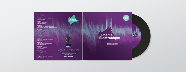 Blank CD cover design mockup vector
